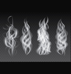 smoke set isolated on transparent background vector image