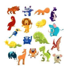 Southern Animals Set vector