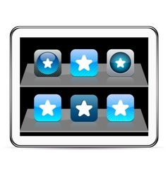 Star blue app icons vector