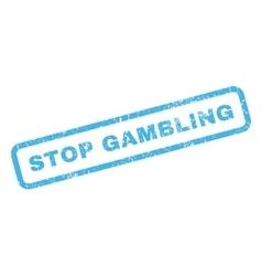Stop Gambling Rubber Stamp vector