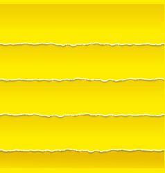 Strips orange paper ragged edge vector