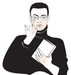 Student boy vector