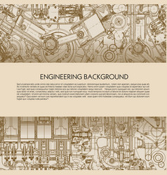 template engineering background with drawings of vector image vector image