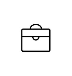 Thin line briefcase icon vector