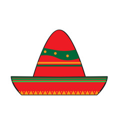 traditional mexican hat vector image