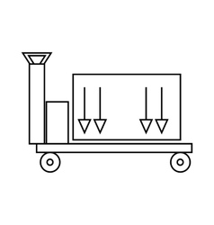 Trailer with cargo icon outline style vector image