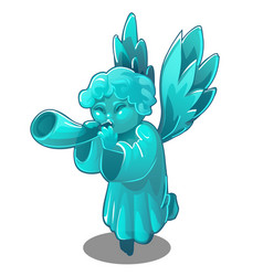 turquoise figurine in the form of an angel vector image
