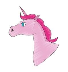 Unicorn horse icon vector