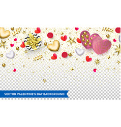 valentines day background design hearts and vector image