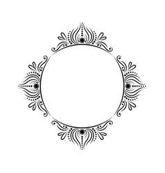 Vintage round classic contour frame vector