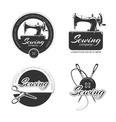 Vintage tailor labels emblems and logo set vector