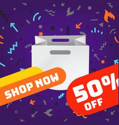web shopping advertising banner template social vector image