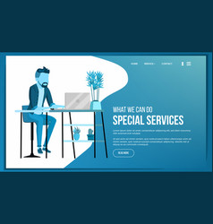 website page business agency front end vector image