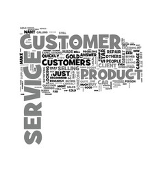 What is customer service text word cloud concept vector