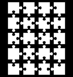 white puzzle 12 vector image