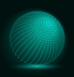 Cyber sphere green big data sphere vector