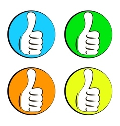Like colored icons set vector image