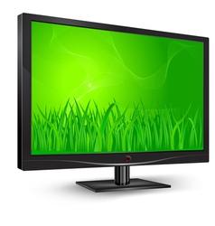 monitor green grass vector image