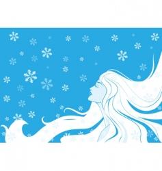woman winter illustration vector image vector image