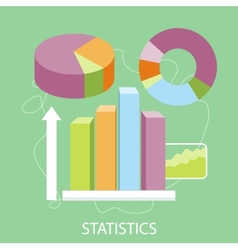 Charts and parameters vector image vector image