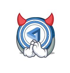 devil maidsafecoin mascot cartoon style vector image