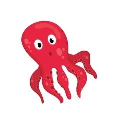Sea octopus cartoon vector image