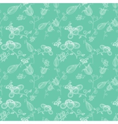 Cork background of flowers leaves bees and vector image vector image
