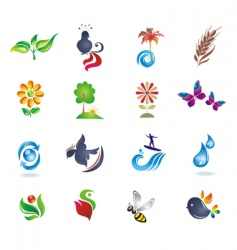 set of design icons vector image vector image
