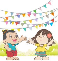 Welcome to Songkran Festival Thailand vector image vector image