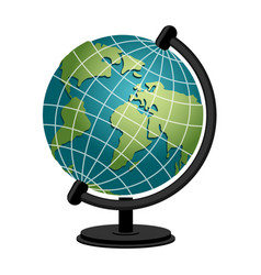 earth school geography globe model of planet vector image vector image