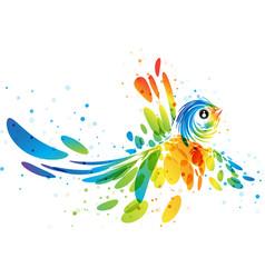 fantasy colorful bird vector image