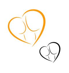 logos of childbirth and motherhood vector image