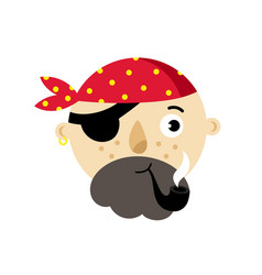 pirate head isolated icon vector image vector image
