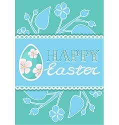 Set of Brochure Flyer Layout Easter vector image