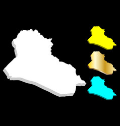 3d map of iraq vector image