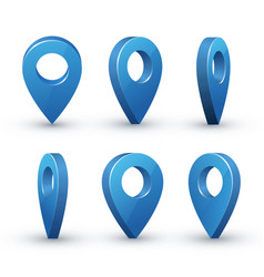 3d map pointer set vector image