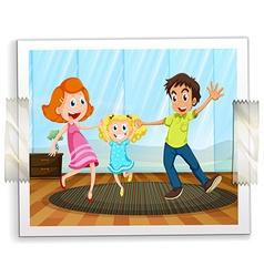 A happy family photo vector