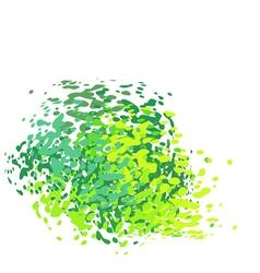 Abstract liquid green drip splatter silhouette vector