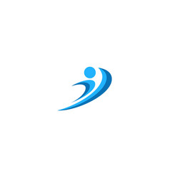active people sport fitness logo vector image