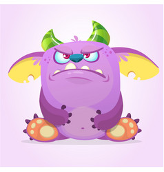 Angry cartoon goblin monster vector