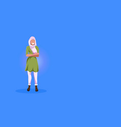 arab woman standing pose happy arabic girl wearing vector image