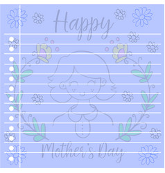 Art greeting card mother day vector