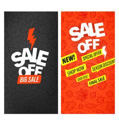 Autumn advertising banners set big sale vector