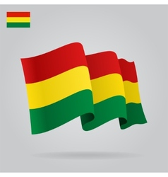 Background with waving Bolivian Flag vector