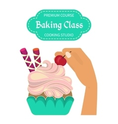 Baking cooking class vector image