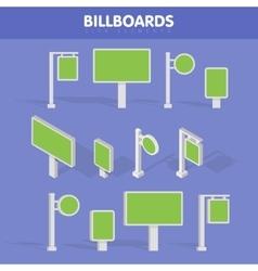 Billboards advertise billboards city light vector image