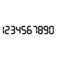 Black digital numbers seven-segment display is vector