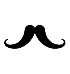 black icon moustache cartoon vector image