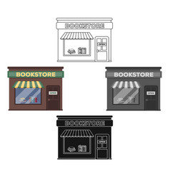 Bookstore icon in cartoonblack style isolated on vector