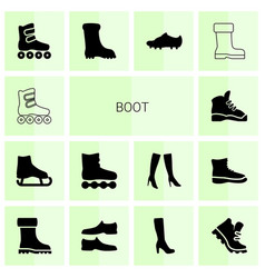 boot icons vector image